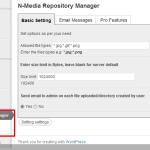 N Media Repository Manager Basic Settings