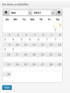 Set dates availability