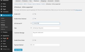 Admin screenshot vesion 2.0 pro