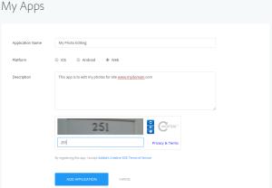 2- Make sure you select web while creating new app