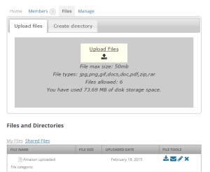 file manager under buddypress group