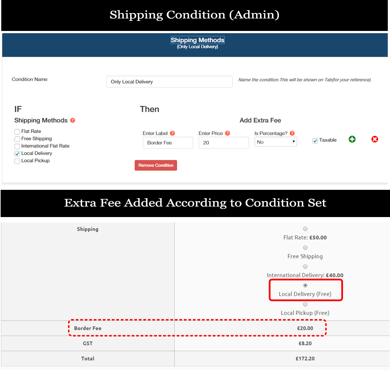Shipping Method Condition