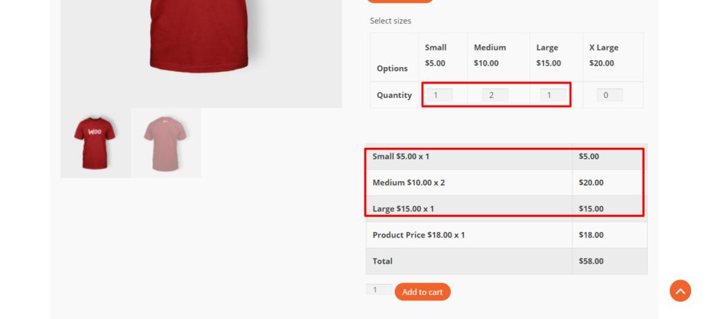 WooCommerce Product Variation Quantity Field for Bulk Orders