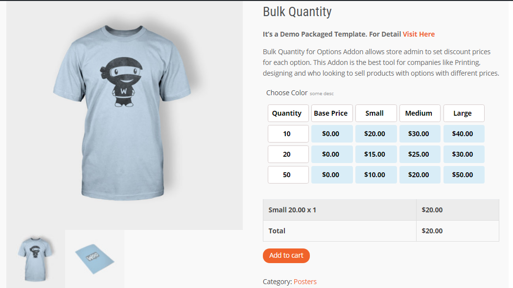 Controlling Bulk Prices With WooCommerce Bulk Quantity PPOM Add-on