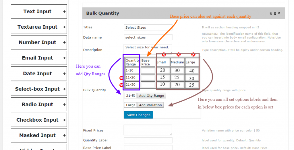 WooCommerce Bulk Quantity for Options