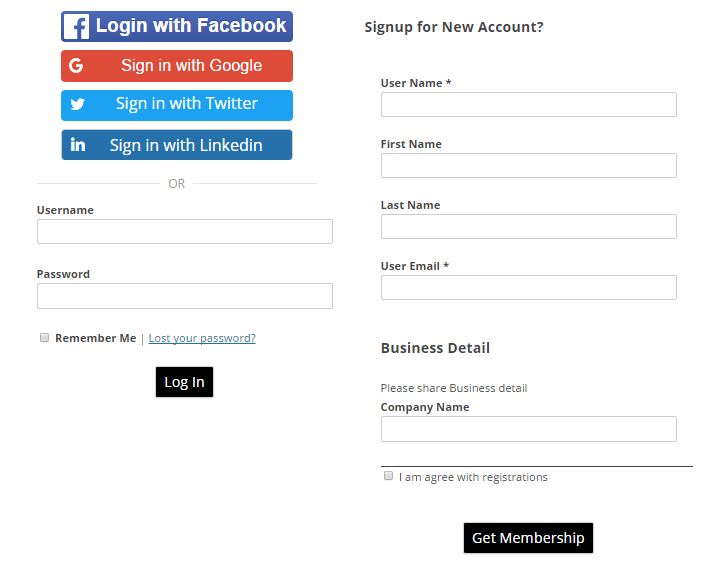 WordPress Social Logins