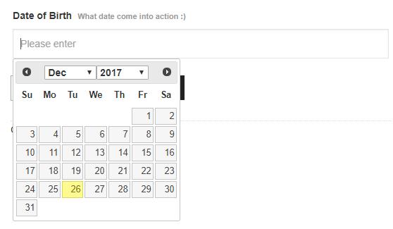 5- Date Input