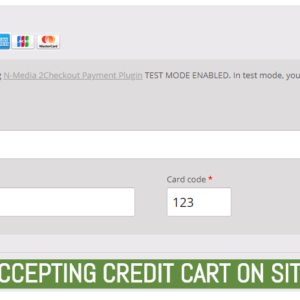 Accepting Credit Cart On Site