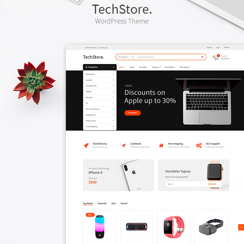 Tech Store - Device, Mobile & Electronics Store WooCommerce Theme