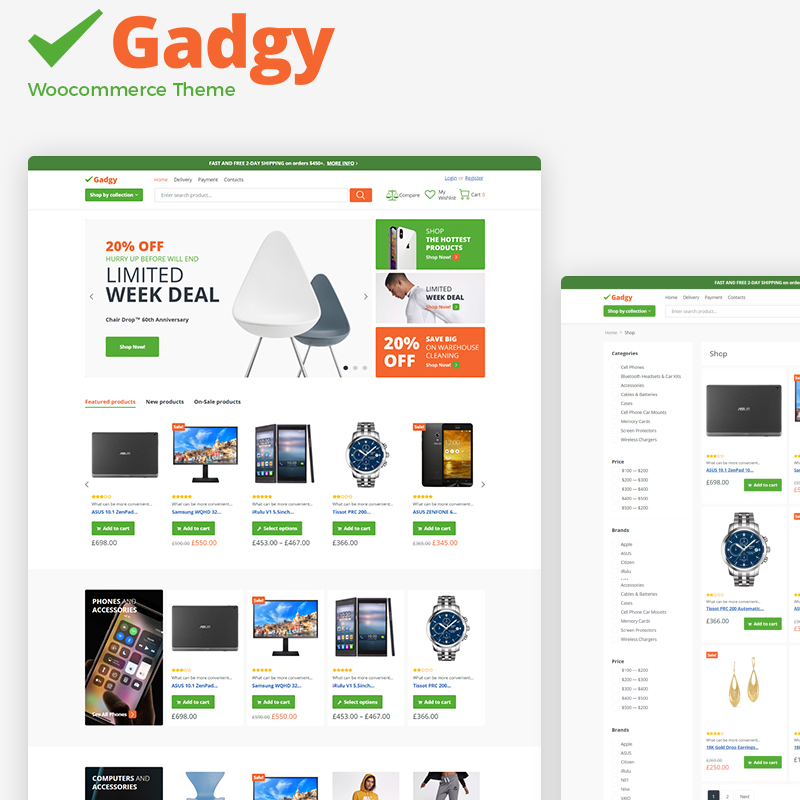 Gadgy - Wholesale Store WooCommerce Theme