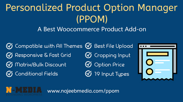 PPOM - WooCommerce Personalized Product Option Manager