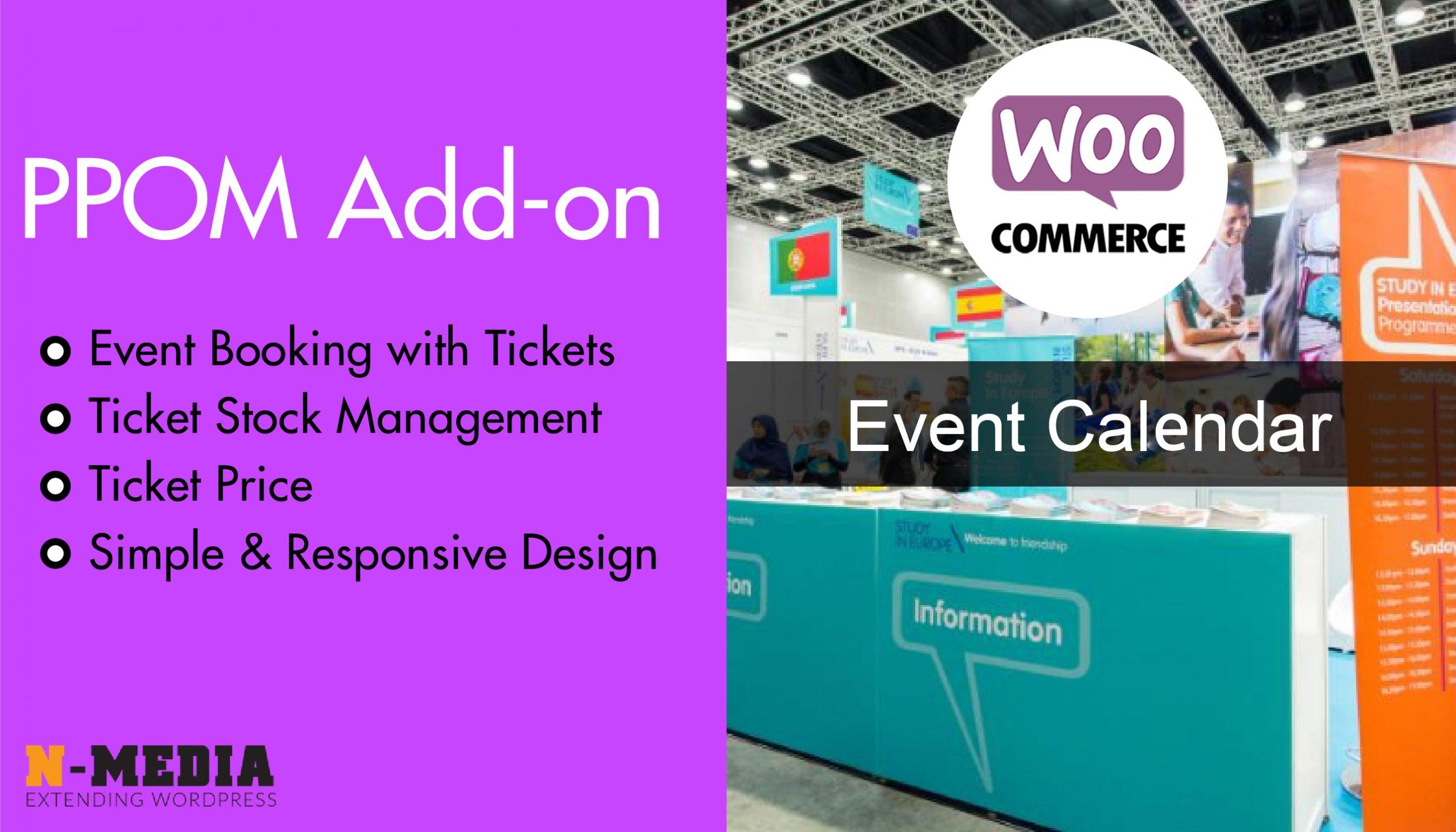WooCommerce Event Calendar – PPOM Add-on