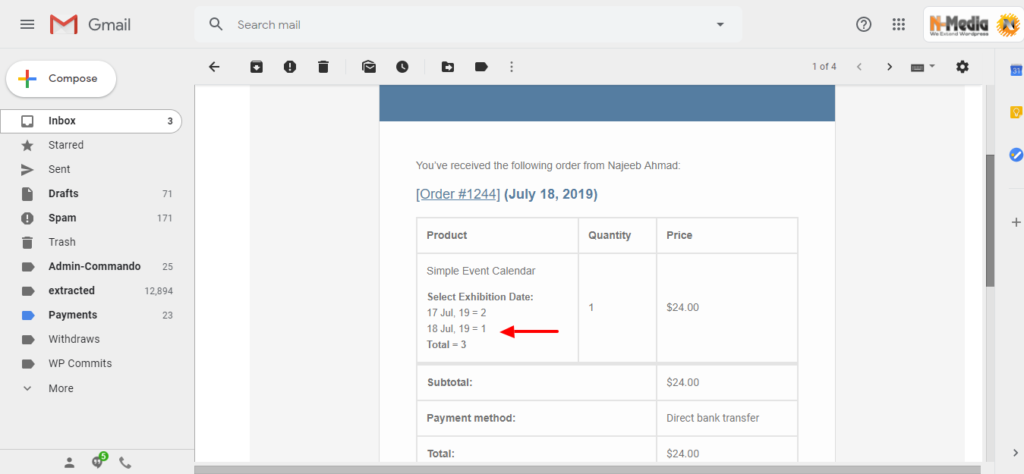 Invoice Email